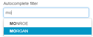 autocomplete filter