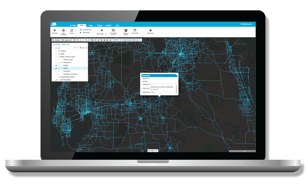 Map Editor is a GIS Cloud Applications with powerful gis tools for creating, editing, styling, sharing and publishing maps for fast data visualisation and collaboration.