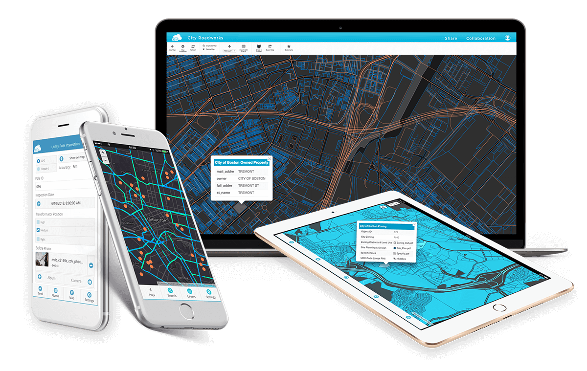 GIS Cloud platform for data collection, mapping and data sharing