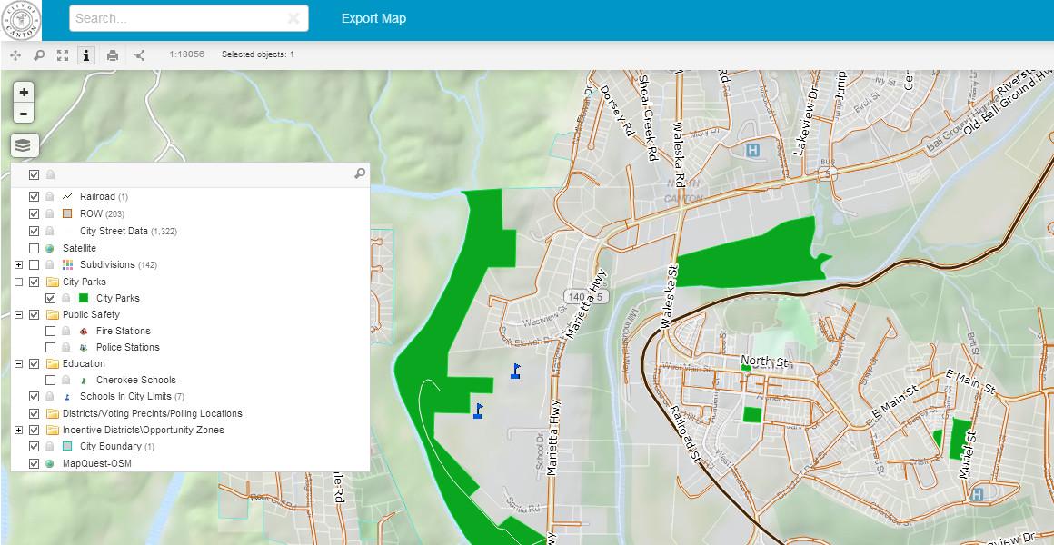 canton map portal