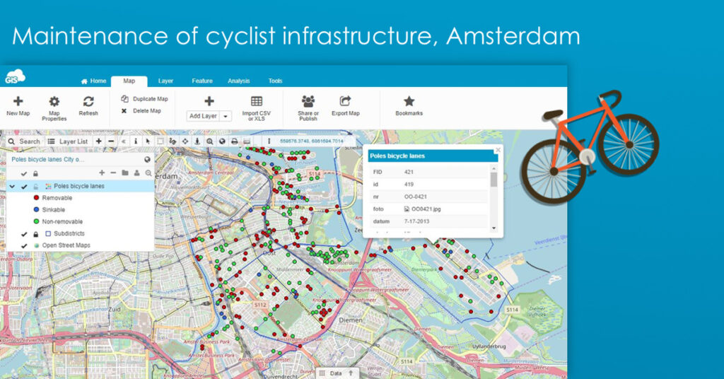 Traffic Management: Maintaining cyclists infrastructure in Amsterdam