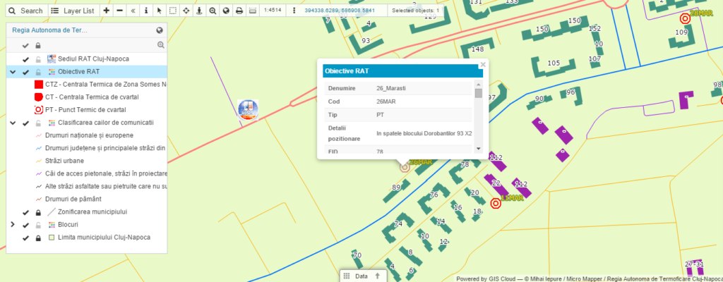 District heating network management interactive map 2
