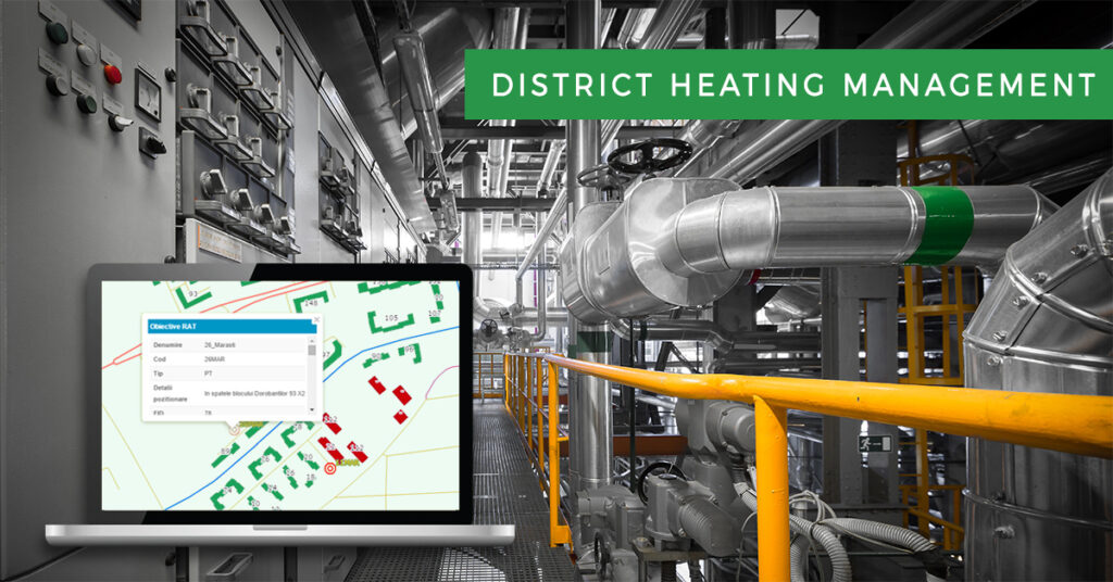 District heating network management gis