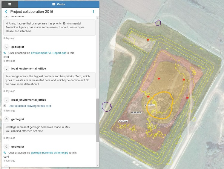 Colaboration tool for drone mapping