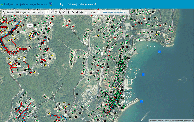 Water Utilities Map GIS cloud software