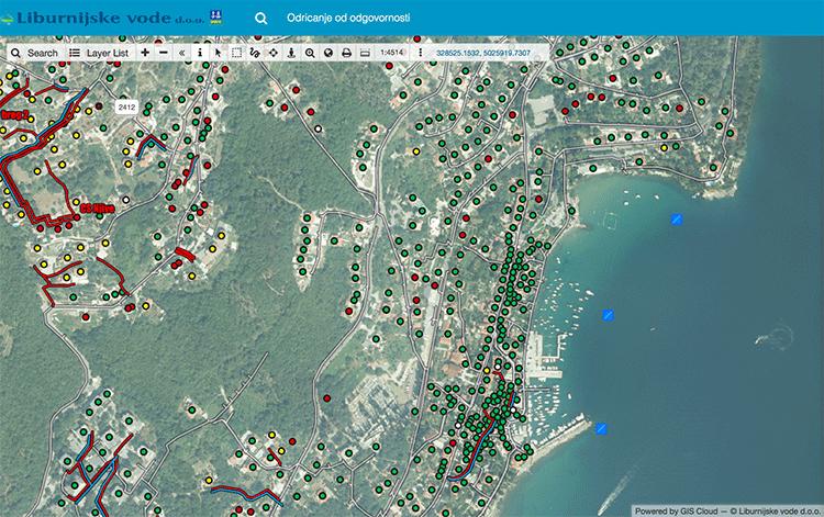 Water Utilities Map GIS cloud software