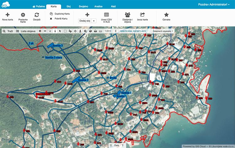 Liburnijske Vode GIS Cloud Portal