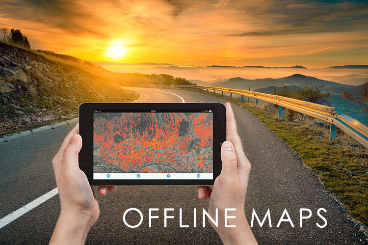 Maps for smartphones and tablets