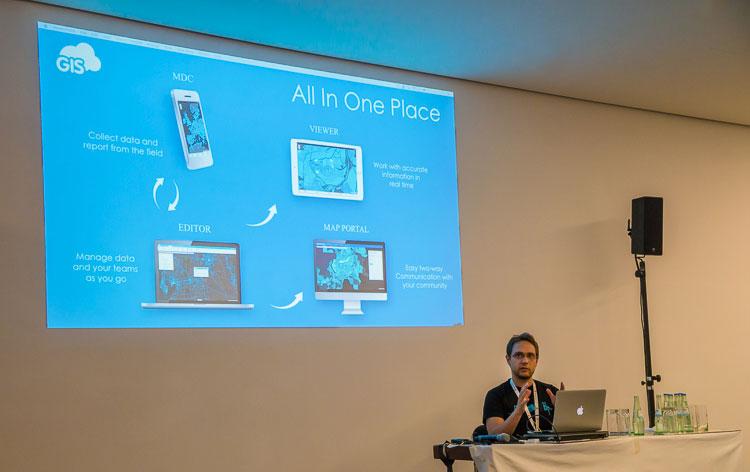 Igor Farkaš presenting GIS Cloud