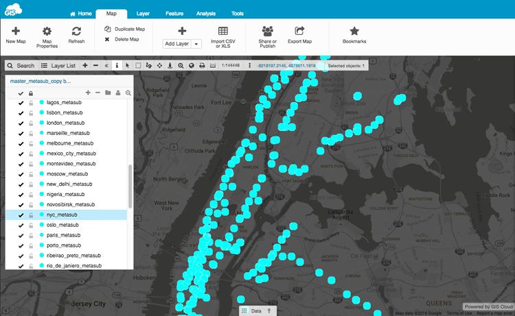 GIS Cloud web map sample collection