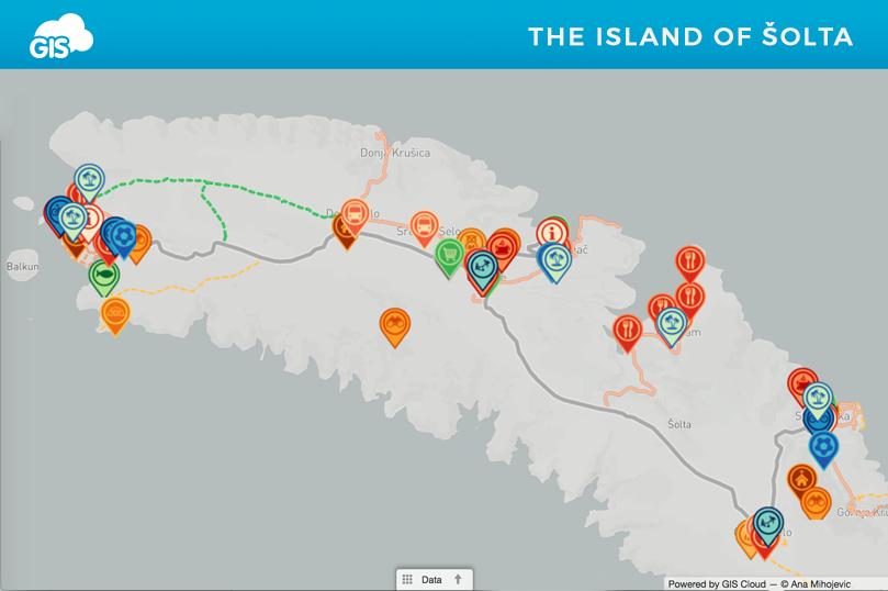 Interactive Map of Services in Šolta