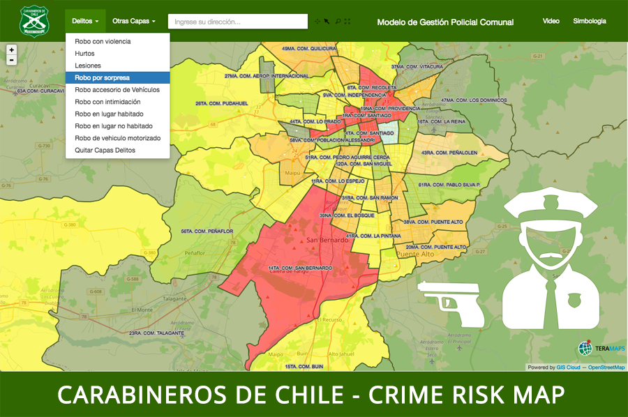 mapping crime in Chile