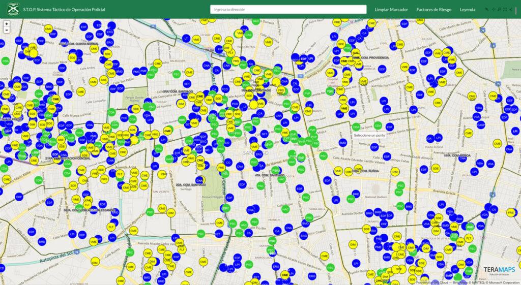 Carabineros de Chile Crime Risk Map 3
