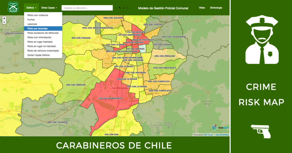 crime risk map carabineros de chile
