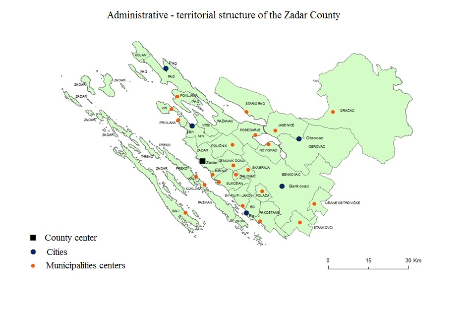 Administrative Division of the Zadar County