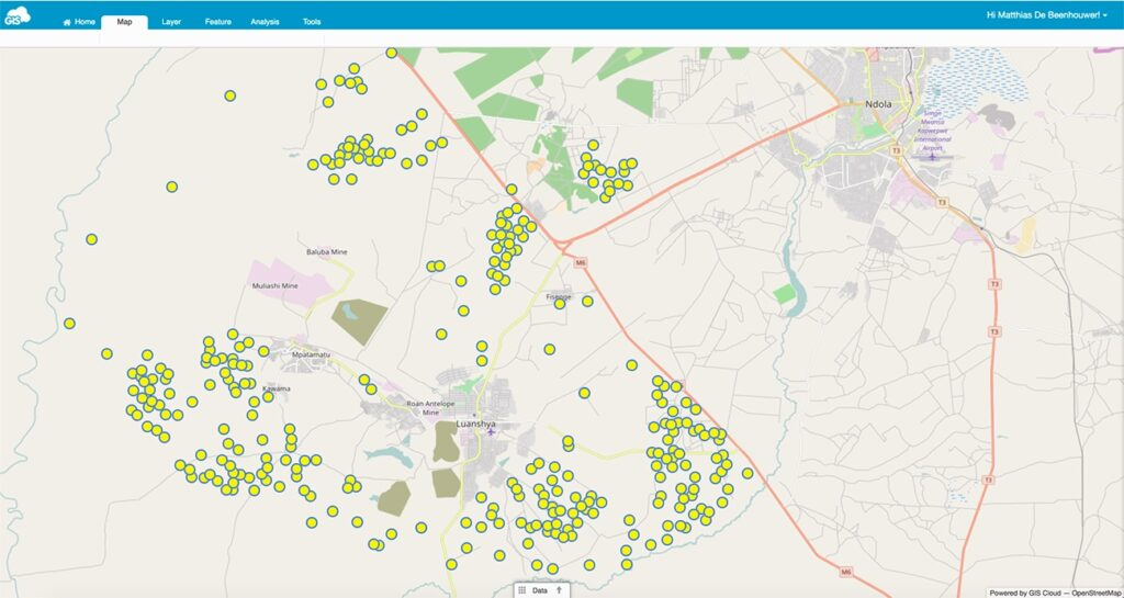 GIS Cloud Mobile Data Collection preserves forests in Zambia