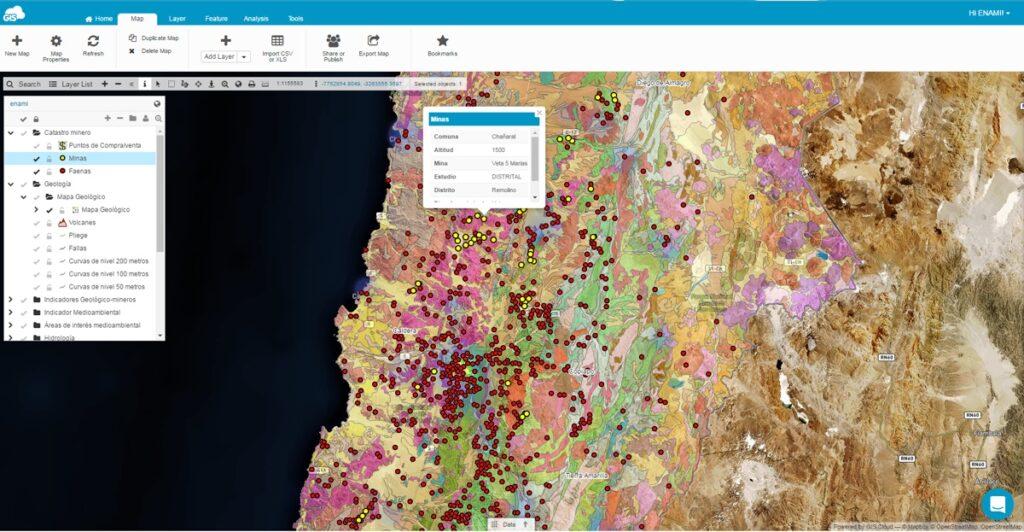 Teramaps and ENAMI project in Atacama