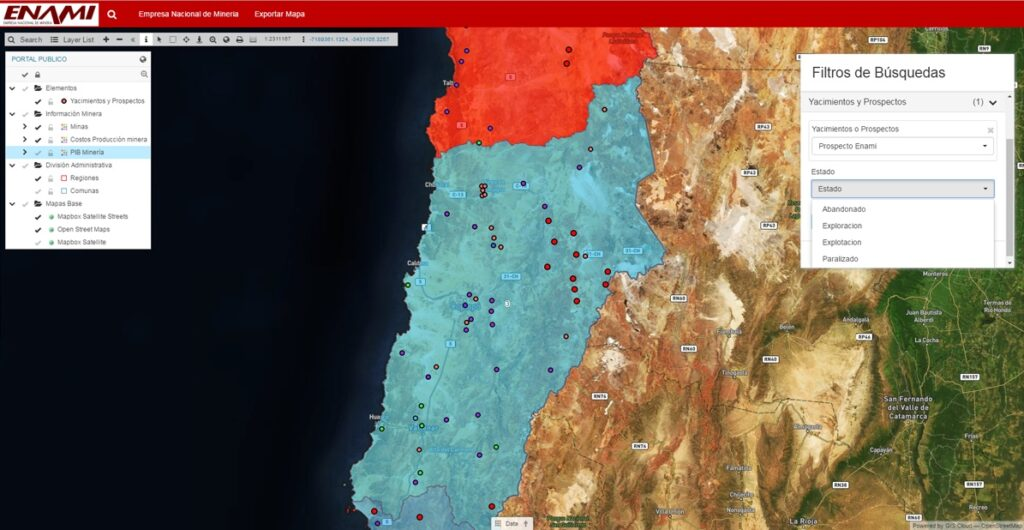GIS in Chile Mining Industry