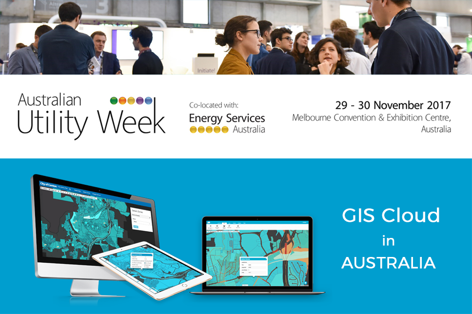 GIS Cloud at Australian Utility Week in Melbourne