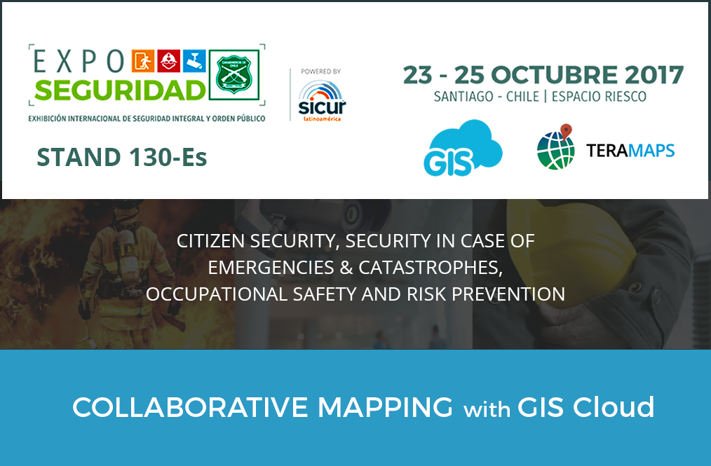 Teramaps presenting GIS Cloud at the Security Expo in Chile