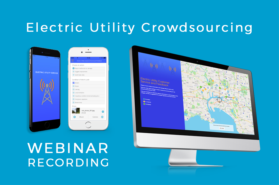 Electric Utility Crowdsourcing Solution GIS Cloud