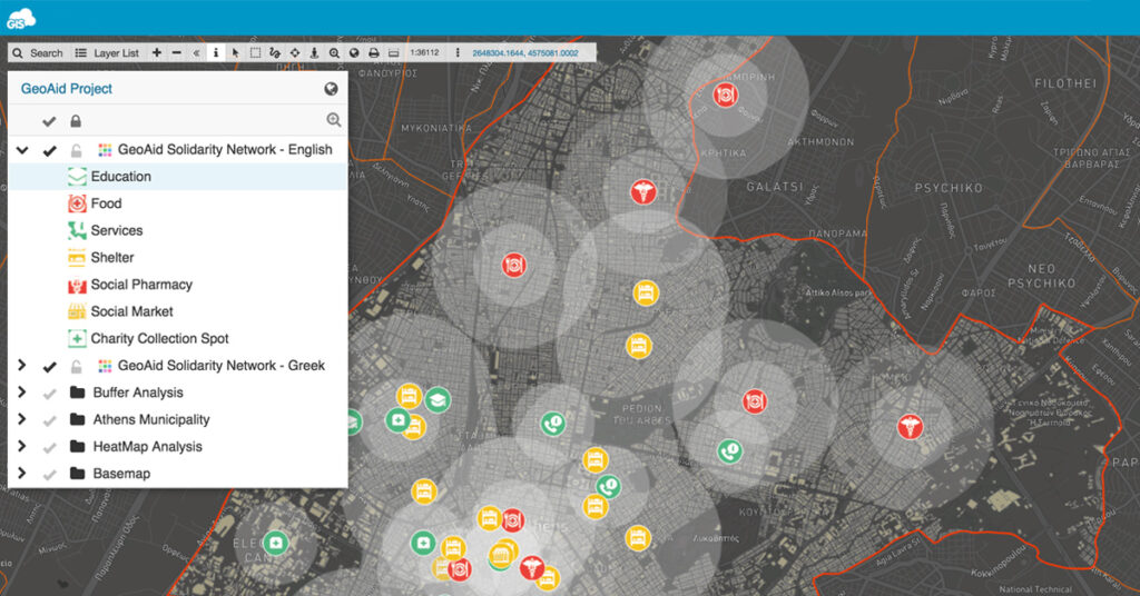 GeoAid: Mapping humanitarian network