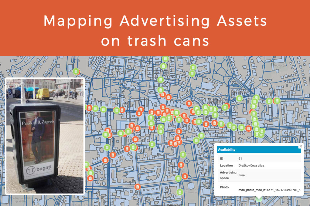 mapping trash can assets mapping advertising space