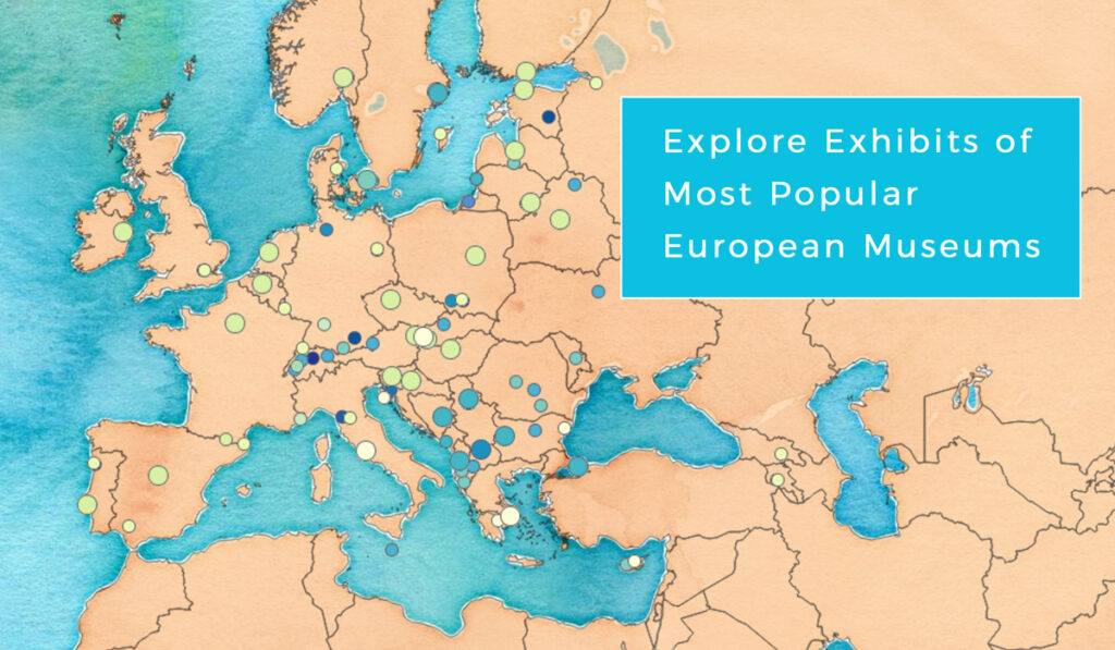 Interactive map of museums in Europe