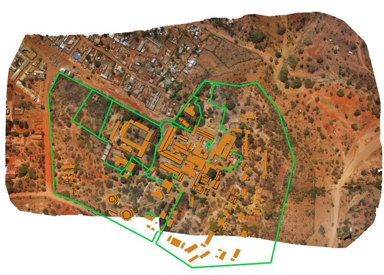 Drone imagery and data visualized in GIS Cloud