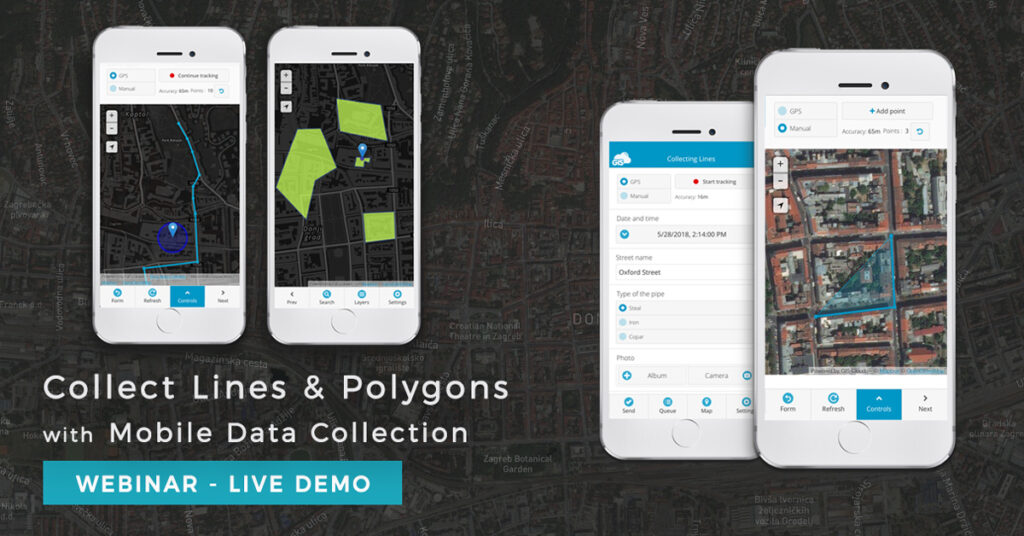Collect lines and polygons with Mobile Data Collection using a basemap