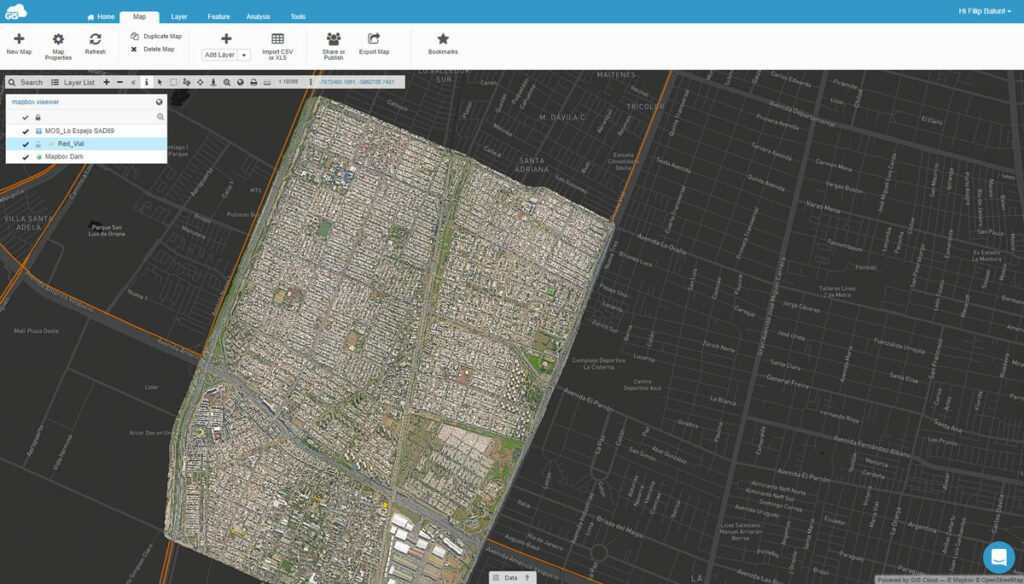 Viewing raster map with map viewer