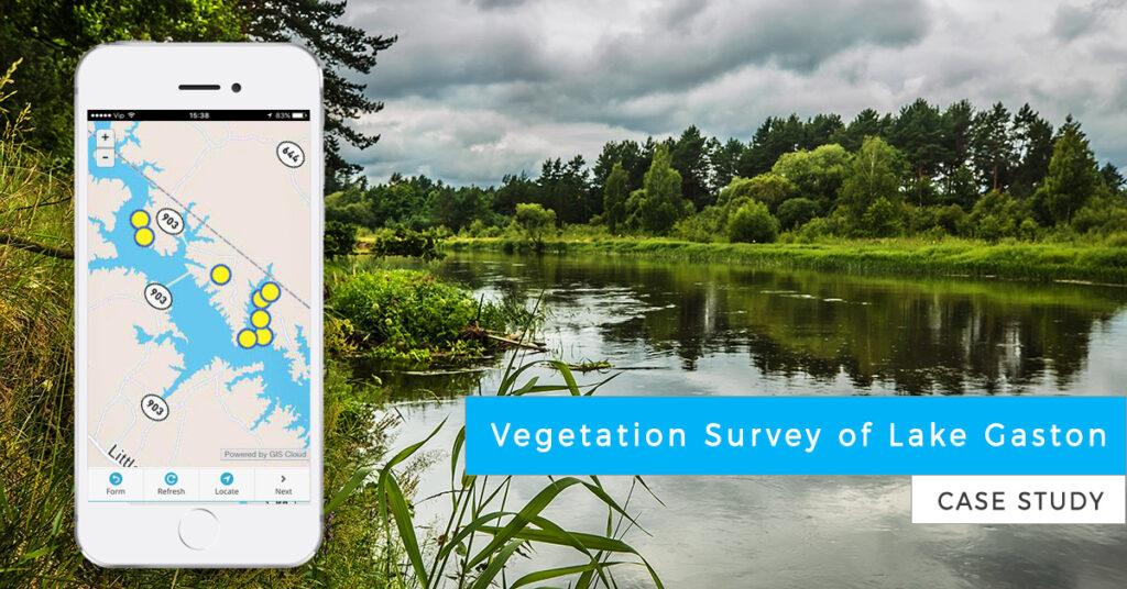 Vegetation survey and shoreline survey of lake gaston