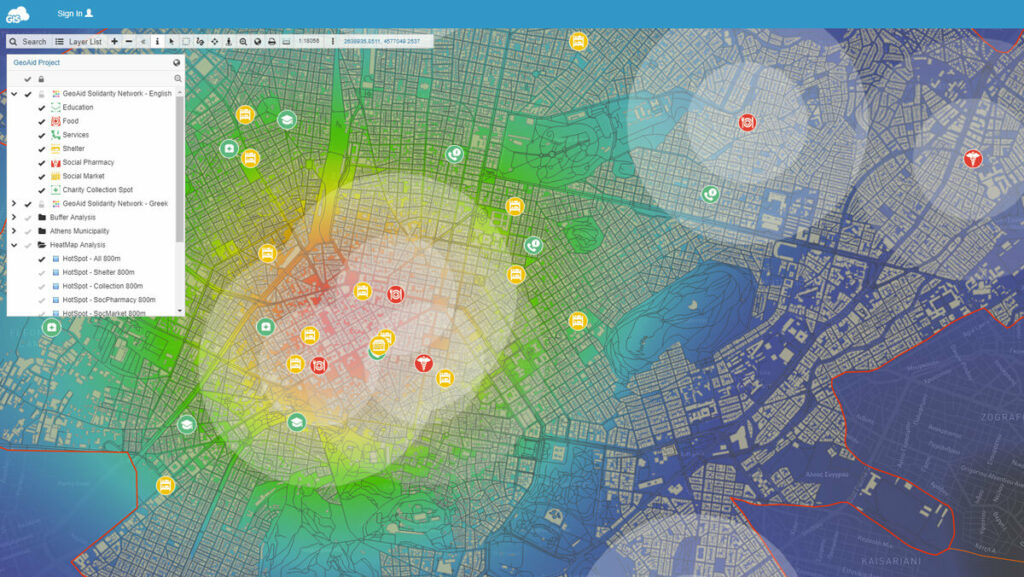 Raster map heat map tool