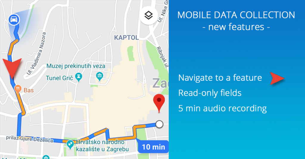 Mobile data collection update - navigate to feature