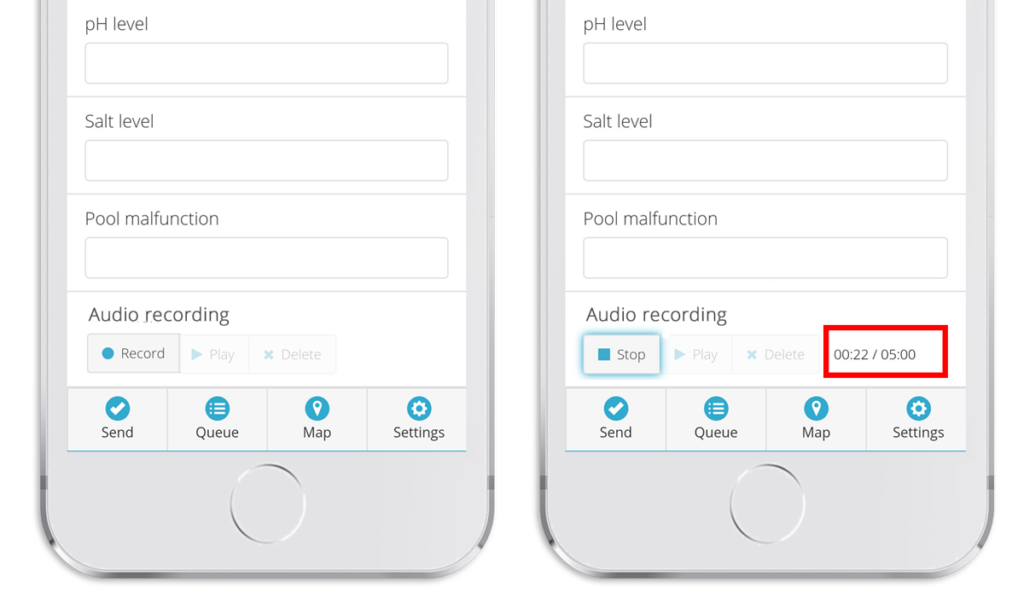 Mobile data collection update - audio recorder