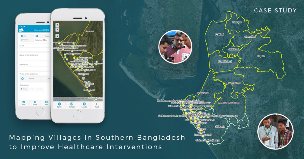Mapping Villages in Southern Bangladesh with GIS Cloud