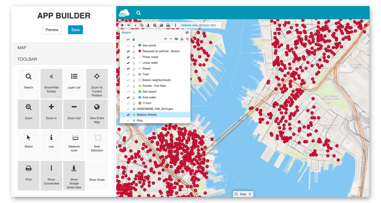 GIS app development - interactive mapping