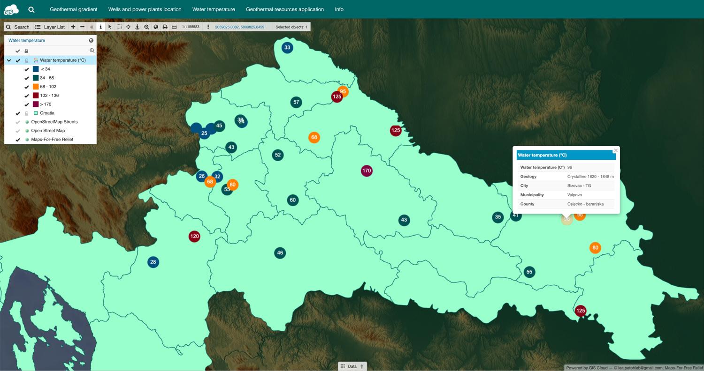 groundwater temperature map croatia 2