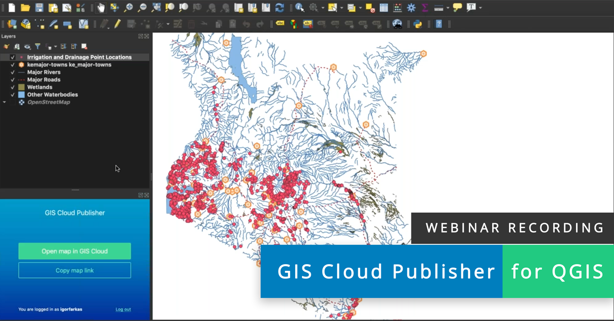 Webinar recording GIS Cloud Publisher for QGIS – Live Demo 2