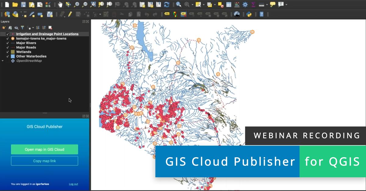 Webinar recording GIS Cloud Publisher for QGIS – Live Demo 2