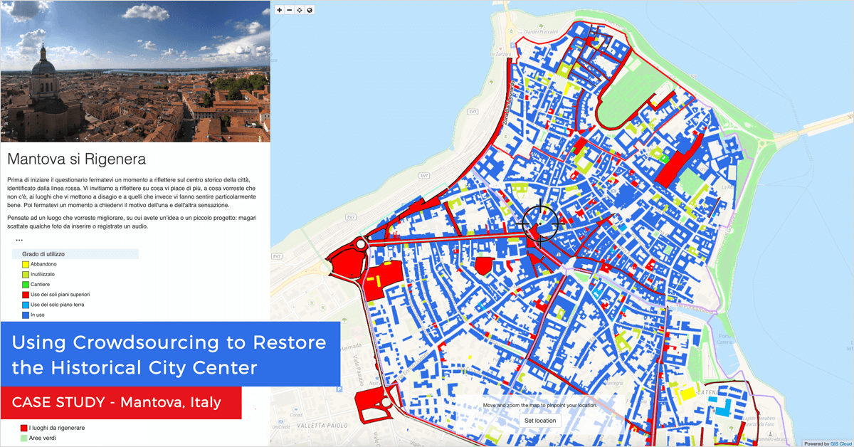 Using Crowdsourcing to Restore the Historical City Center of Mantova, Italy