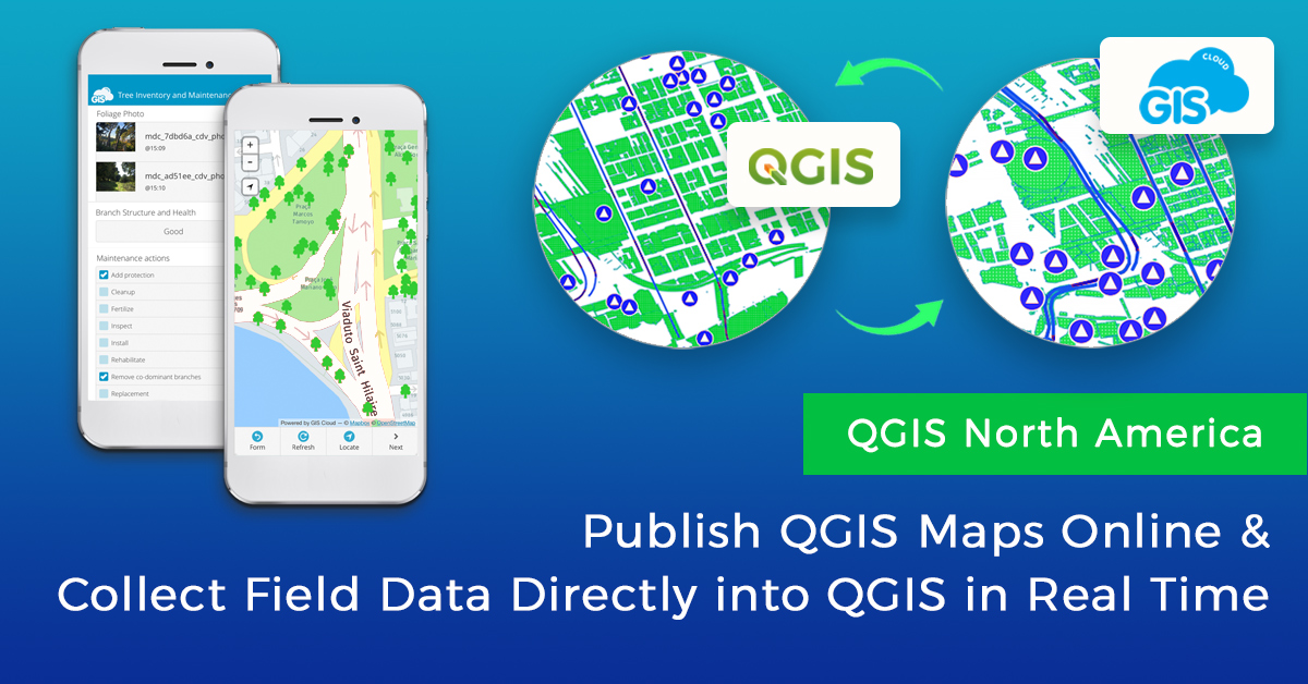 Real Time Data Collection in QGIS and Map Publishing