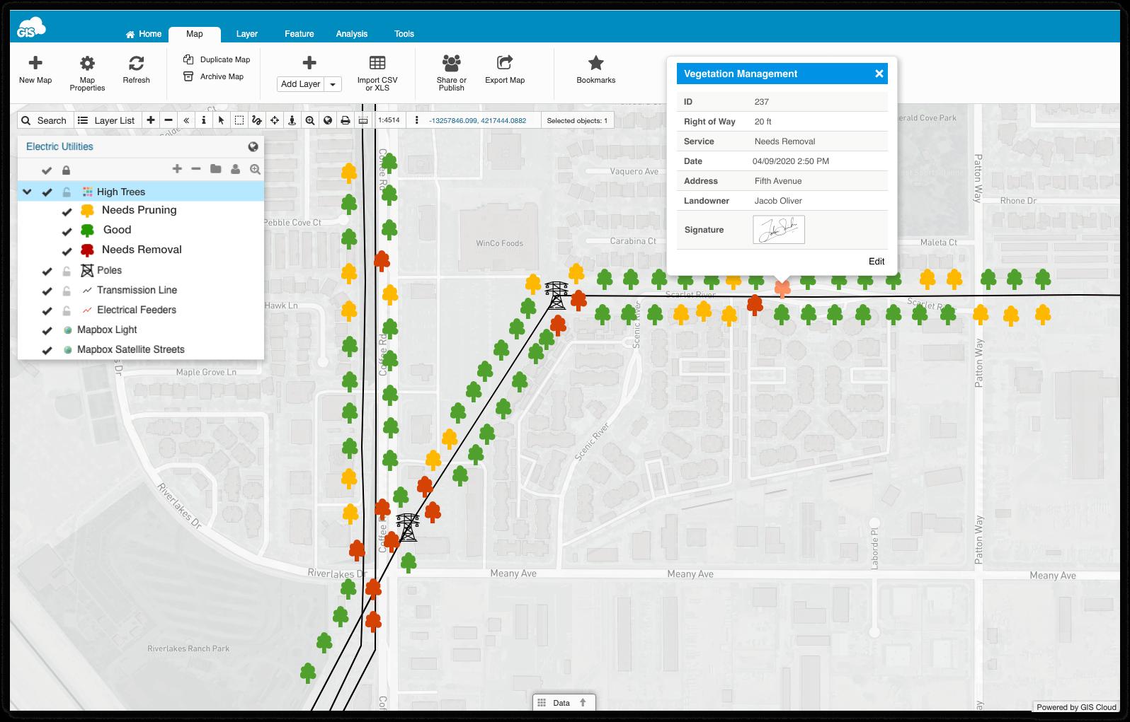 Managing Vegetation Using GIS - Map Editor