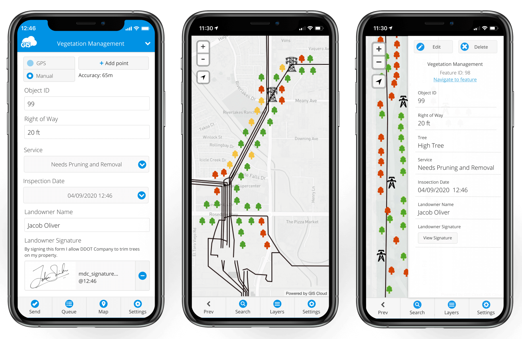 Mobile Data Collection for Tree Inspections