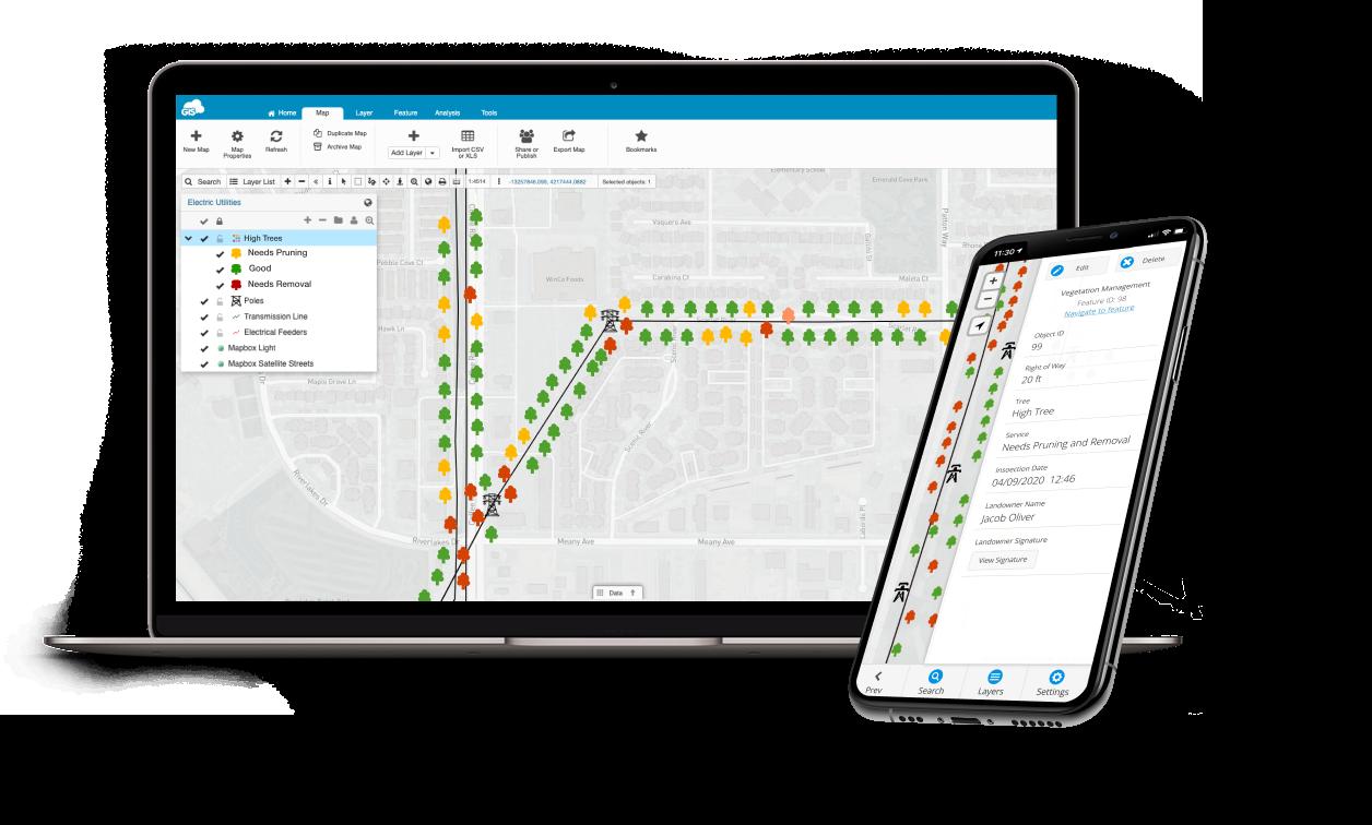 GIS Sloution for Vegetation Management - mobile and web app