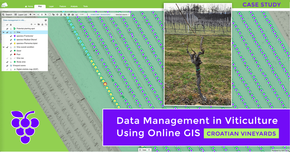Data Management in Viticulture Using Online GIS (Case study – Croatia)