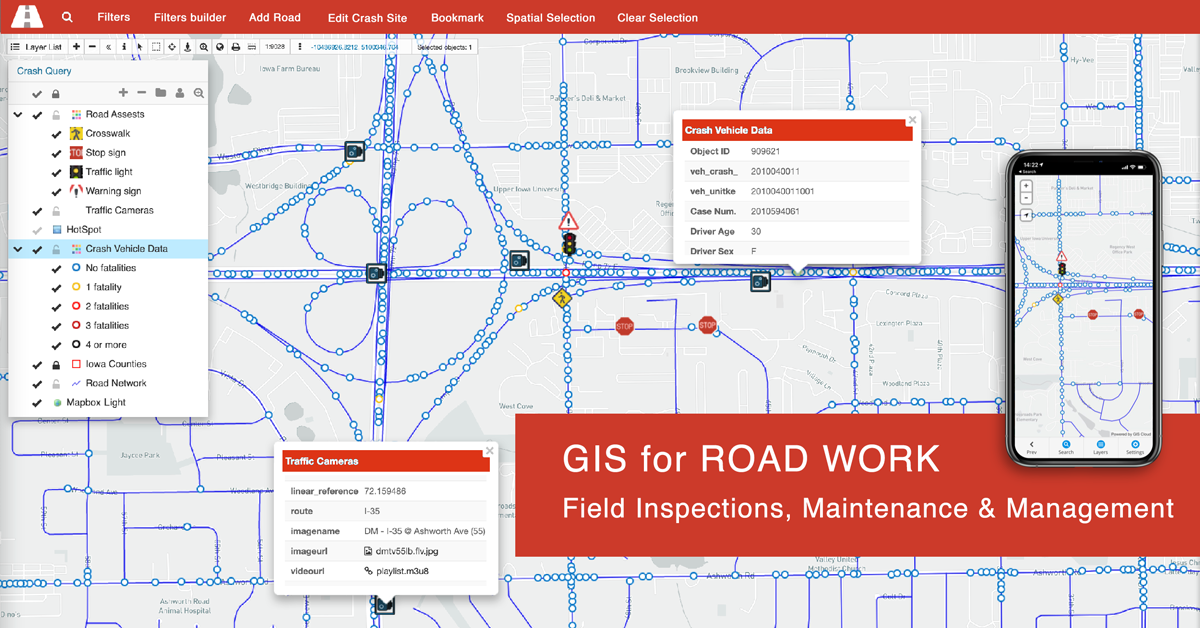 Online GIS In Road Work Inspections And Maintenance