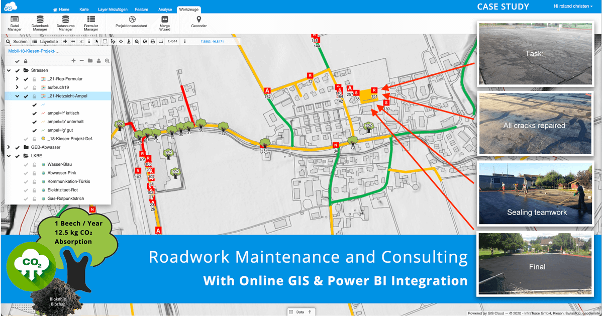 Roadwork Maintenance and Consulting With Online GIS And Power BI Integration – Case Study